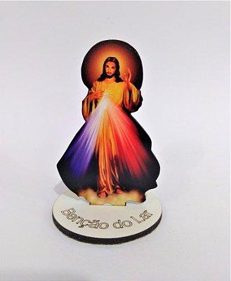 Enfeite de mesa em MDF de Jesus Misericordioso - O pacote com 6 peças - Cód.: 1647