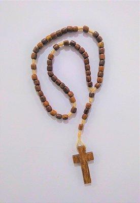 Terço Médio em madeira Marrom sem Cristo - A dúzia - Cód.: 9716