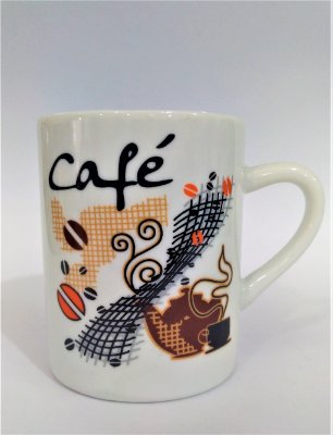 Caneca Redonda Café - A unidade - Cód.: 1571
