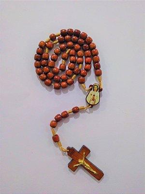 Terço Bibelô de Nossa Senhora da Rosa Mistica - Pacote com 6 peças - Cód.: 2877