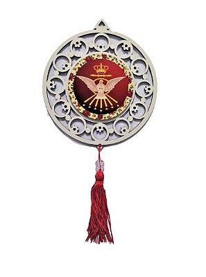 Adorno em MDF com Estampa do Divino Espírito Santo - O pacote com 3 peças - Cód.: 4443