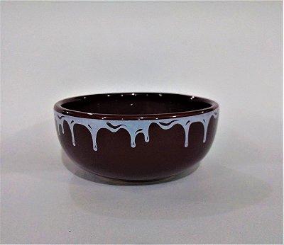 Sopeira Redonda Chocolate Pequena - O pacote com 3 peças - Cód.: 3223