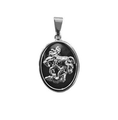 Pingente em Aço Inox de São Jorge - O pacote com 6 peças - Cód.: 3943