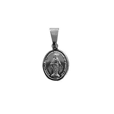 Pingente em Aço Inox de Nossa Senhora das Graças - O pacote com 6 peças - Cód.: 9051