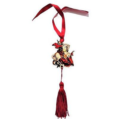 Pendulo Bibelô de São Jorge - O pacote com 3 peças - Cód.: 5746