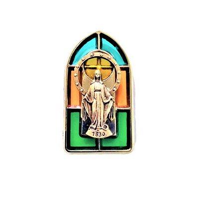 Imã Vitral de Nossa Senhora as Graças - O pacote com 3 peças - Cód.: 8146