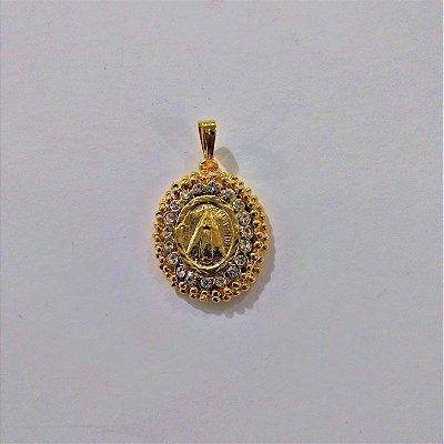 Medalha de Nossa Senhora Aparecida Bolinha - O pacote com 3 peças - Cód.: 4362