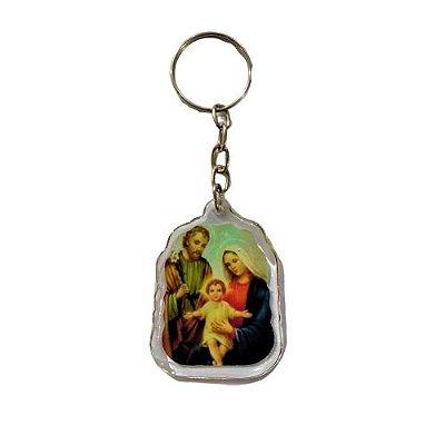 Chaveiro Acrílico da Sagrada Família - O pacote com 3 peças - Cód.:8516