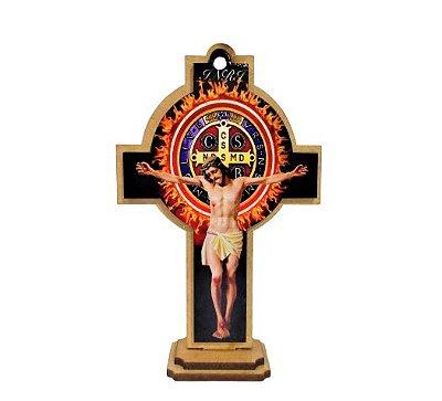 Cruz de São Bento Pequena em MDF - O pacote com 3 peças - Cód.: 1531