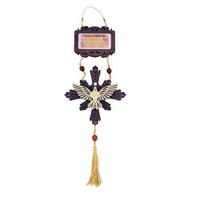 Enfeite de Parede do Divino Espírito Santo com Oração - O pacote com 3 peças - Cód.: 4310