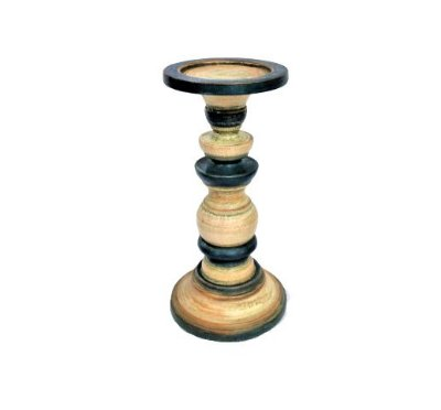 Castiçal de Madeira G - Cores Sortidas - Cód.: 692