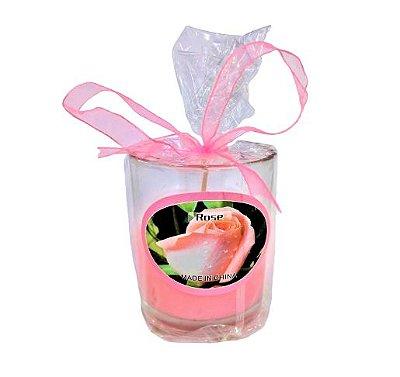 Castiçal de Vidro com Vela Perfumada - O pacote com 3 peças - Cód.: 914