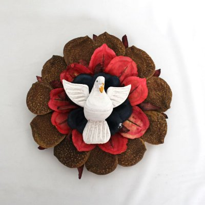 Divino Espírito Santo artesanal - Mandala de sementes - Médio - Diversos modelos - Cód.: 0966