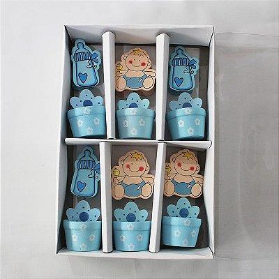Prendedor de Papel para escritório - Bebê - Caixa com 6 unidades sortidas