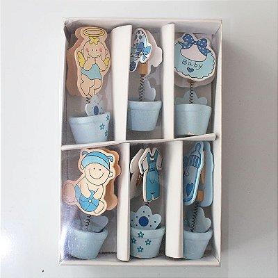 Prendedores de papel - bebê - caixa com 6 unidades sortidas