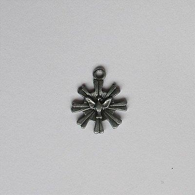 Medalha em Níquel Envelhecido do Divino espírito santo - pacote com 100 peças - Cód.: 7833