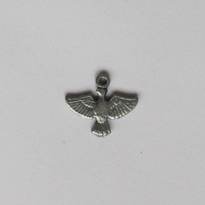 Medalha do Divino Espírito Santo em níquel - pacote com 100 peças - Cód.: 7875