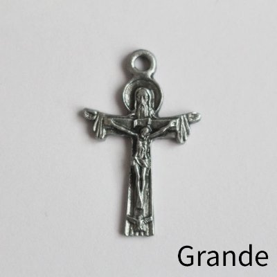 Cruz da Santíssima Trindade Grande - 3,7 cm - Pacote com 30 peças - Cód.: 8844