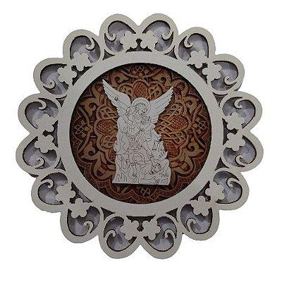 Mandala com Aplique de São Miguel Arcanjo - O Pacote com 3 peças - Cód.: 7339