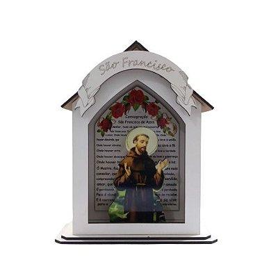 Capela Personalizada em MDF de São Francisco - A Peça - Cód.: 7889
