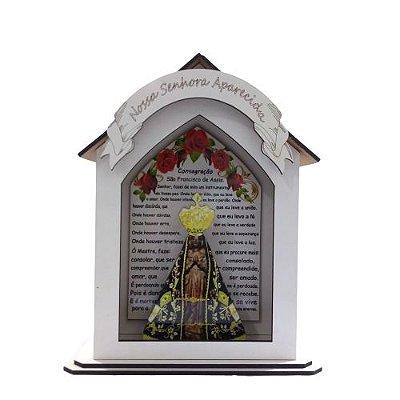 Capela Personalizada em MDF de Nossa Senhora Aparecida - O Pacote com 3 peças - Cód.: 7889