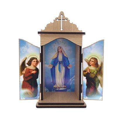 Oratório em Madeira Nossa Senhora das Graças - A Unidade - Cód.: 3931