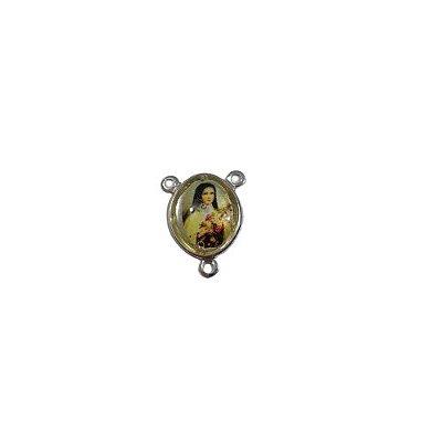 Entremeio em Metal Resinado de Santa Terezinha - O Pacote com 50 peças - Cód.: 3020