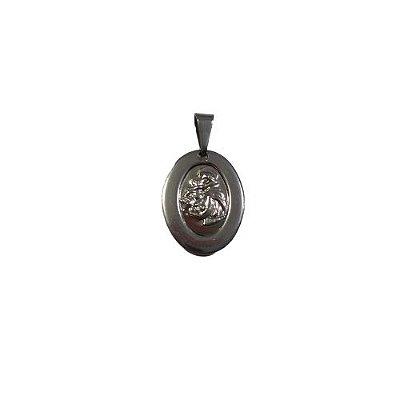 Medalha de Aço Inox com Imagem de São Jorge - O Pacote com 6 Peças - Cód.: 1905