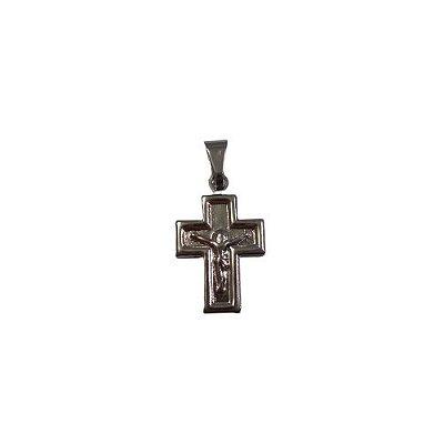 Pingente de Aço Inox - Cruz com Cristo - O Pacote com 6 peças - Cód.:7816
