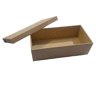 Caixa Simples 25 x 13 x 7 cm, em MDF com Tampa -  O Pacote com 3 peças - Cód.: 5057
