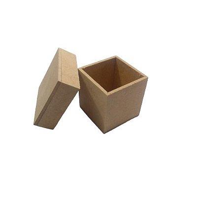 Caixa Simples 5 x 5 x 5 cm, em MDF com Tampa - O Pacote com 6 peças  - Cód.: 5130