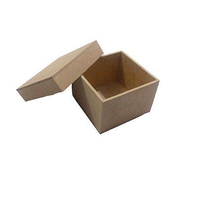 Caixa Simples 7 x 7 x 5 cm, em MDF com Tampa - O Pacote com 6 peças - Cód.: 2295