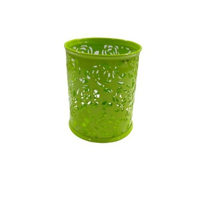 Porta Lápis de Metal Vazado na Cor Verde - O Pacote com 2 peças - Cód.: 2489