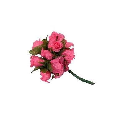 Mini Buquê de Rosa Artificial - A Dúzia - Cód.: 157