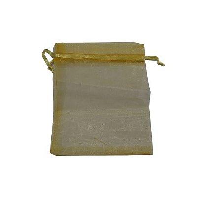 Saquinho de Organza na Cor Amarela - O Pacote com 100 peças  - Cód.: 7400