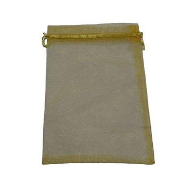 Saquinho de Organza na Cor Amarela - A Dúzia - Cód.: 481