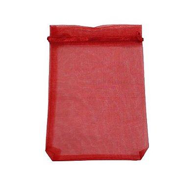Saquinho de Organza na Cor Vermelha - O Pacote com 50 peças - Cód.: 467