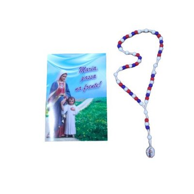 Terço com Folheto de Oração - Maria Passa Na Frente - A Dúzia - Cód.: 1827