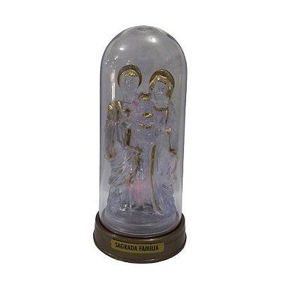 Sagrada Família LED com Cúpula e Base Cor Ouro Velho - O Pacote com 3 peças - Ref.: 0669