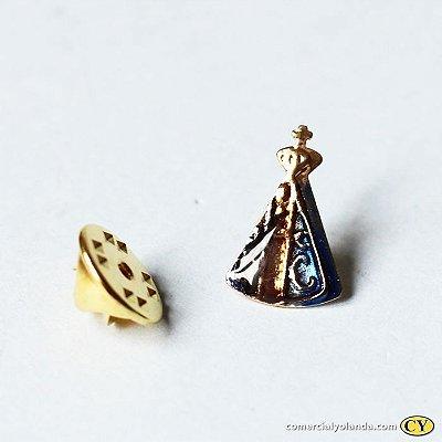 Broche de Nossa Senhora Aparecida - Tamanho Médio - A Dúzia - Cód.: 3871