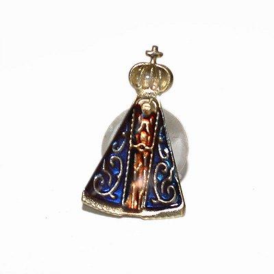 Broche de Nossa Senhora Aparecida - A Dúzia - Tamanho Grande - Cód.: 3870