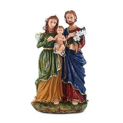 Imagem Sagrada Família G em resina  20 cm - A Unidade - Cód.: 6786