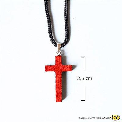 Cruz de madeira laqueada - A Dúzia - Cód.: 1285