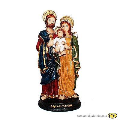 Imagem de  Sagrada Família M em resina - Pacote com 3 Unidades - Cód.: 8669