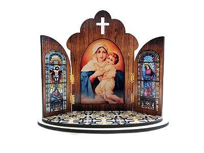 Capela Portuguesa da Mãe Rainha - O Pacote com 3 peças - Cód.: 6355