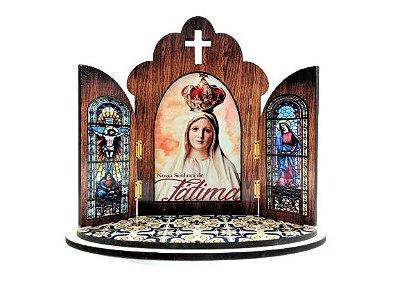 Capela modelo Portuguesa de Nossa Senhora de Fátima - O Pacote com 3 peças - Cód.: 6355
