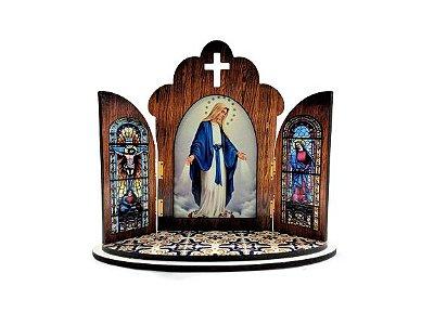 Capela modelo Portuguesa de Nossa Senhora das Graças - O Pacote com 3 peças - Cód.: 6355