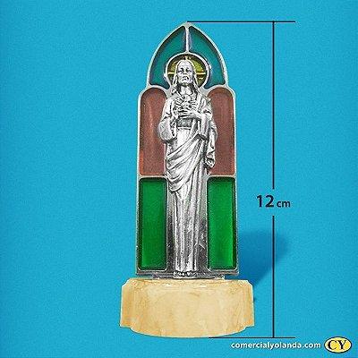Pia para água benta de Sagrado Coração de Jesus - Vitral - A Unidade - Cód.: 8182