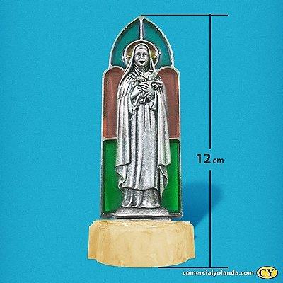 Pia para água benta de Santa Teresinha - Vitral - A Unidade - Cód.: 8184