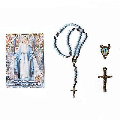 Terço com folheto de oração, Nossa Senhora das Graças - A Dúzia - Cód.: 2029